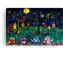 Hoooooo's There Canvas Print