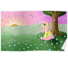 Fluttershy's Butterfly Bliss Poster