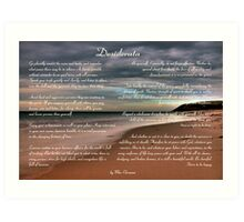 Desiderata Inspirational Poem on Seashore Art Print