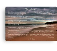 Desiderata Inspirational Poem on Seashore Canvas Print