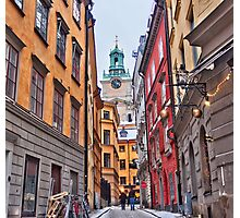 Lost in Gamla Stan Photographic Print