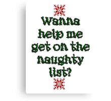 Naughty list Canvas Print
