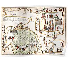 1704 Gemelli Map of the Aztec Migration from Aztlan to Chapultapec Geographicus AztecMigration gemelli 1704 Poster