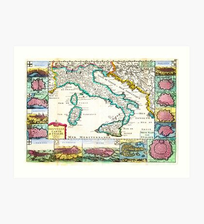 1706 de la Feuille Map of Italy Geographicus Italy lafeuille 1706 Art Print