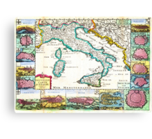 1706 de la Feuille Map of Italy Geographicus Italy lafeuille 1706 Canvas Print