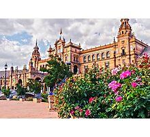 Plaza de Espana - Seville - HDR Photographic Print