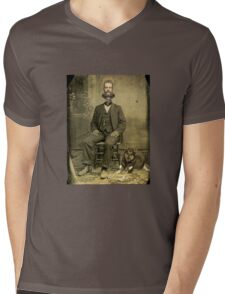 Stuart of the steam clock  Mens V-Neck T-Shirt