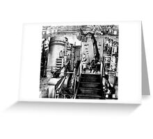 Unit of Stoppages Employee's Traveling to Work. Greeting Card