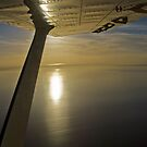 Winging over Lake Eyre - South Australia by Norman Repacholi