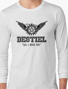 Destiel Quote Shirt Series #6 Long Sleeve T-Shirt