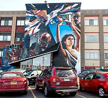 The Mural at Village Gate by Mikell Herrick
