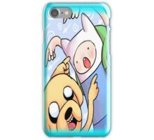 Fin the human and jake the dog iPhone Case/Skin