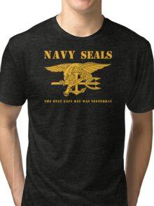 Navy SEALs Stencil Tri-blend T-Shirt