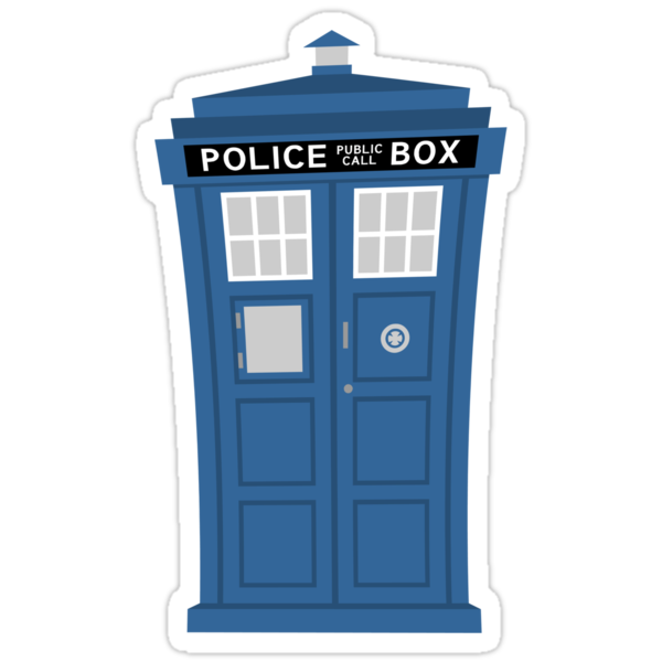 """TARDIS Friend"" Sticker by DrWow"
