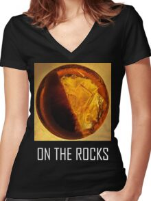 On The Rocks! Women's Fitted V-Neck T-Shirt