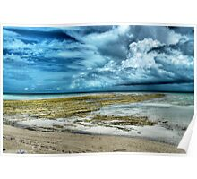 Storm coming from the East at Yamacraw Beach in Nassau, The Bahamas Poster