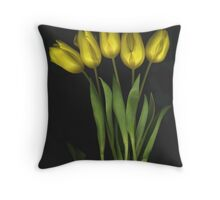 (Very) Yellow Tulips Throw Pillow