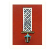 Window and Lantern Art Print