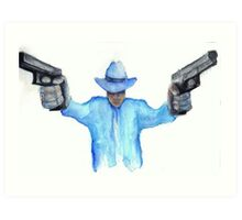 Raylan Givens from Justified Cards and Prints Art Print