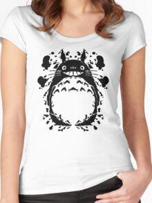 Totororschach Women's Fitted Scoop T-Shirt