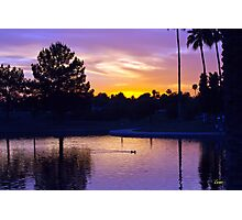 Purple Sunset Photographic Print
