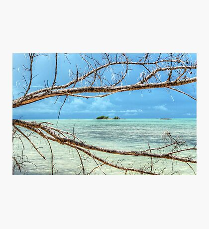 Paradise on Earth at Coral Harbour in Nassau, The Bahamas Photographic Print
