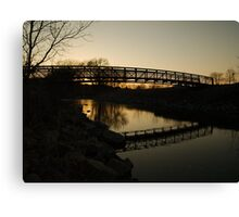 The Blue Hour Begins at Skunk Creek Canvas Print