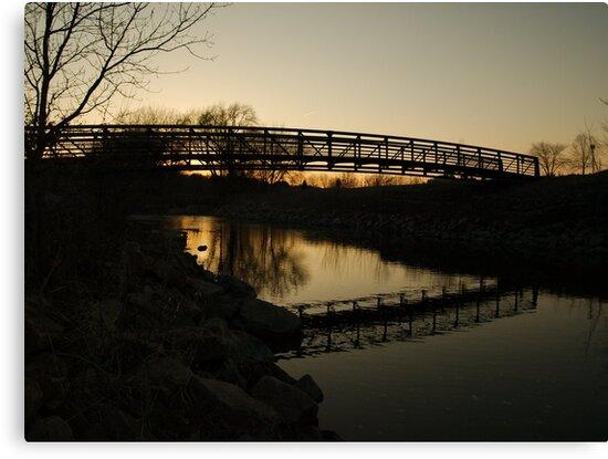 The Blue Hour Begins at Skunk Creek by Scott Hendricks