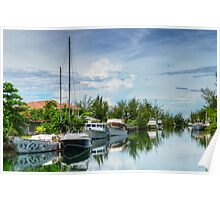 Coral Harbour in Nassau, The Bahamas Poster