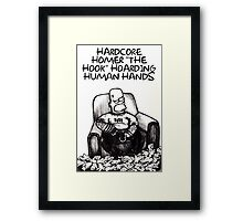 Hardcore Homer Simpson Cards and Prints Framed Print