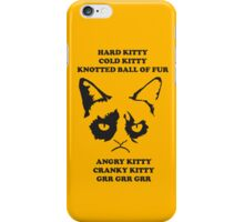 Grumpy Cat iPhone Case With Poem iPhone Case/Skin