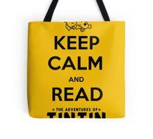 Keep Calm and Read Tintin (print) Tote Bag