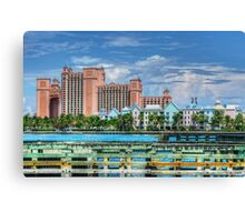 Atlantis and Harbor Village in Paradise Island, Nassau, The Bahamas Canvas Print