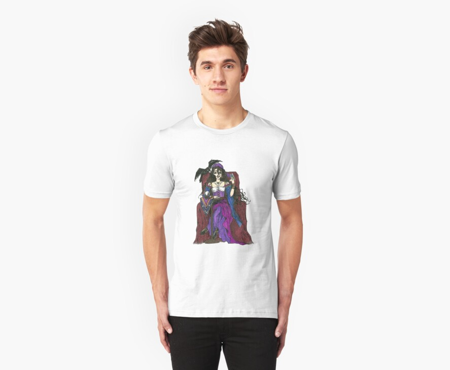 Gypsy Woman with Raven T-shirts by gothscifigirl
