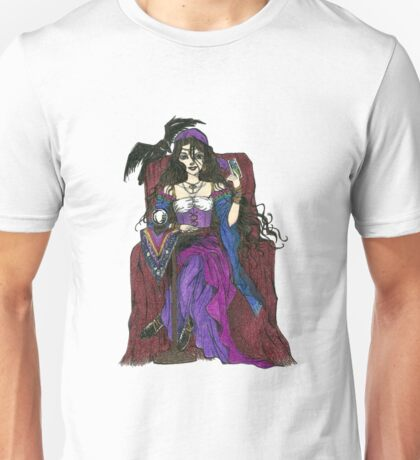 Gypsy Woman with Raven T-shirts Unisex T-Shirt