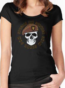 SAS Skull Women's Fitted Scoop T-Shirt
