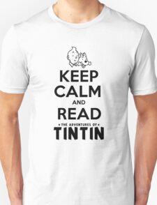 Keep Calm and Read Tintin Unisex T-Shirt