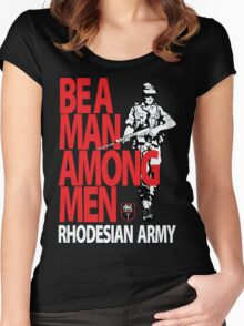 Rhodesian Army Recruiting Poster Graphic Women's Fitted Scoop T-Shirt