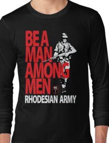 Rhodesian Army Recruiting Poster Graphic Long Sleeve T-Shirt