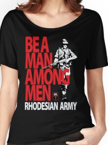 Rhodesian Army Recruiting Poster Graphic Women's Relaxed Fit T-Shirt