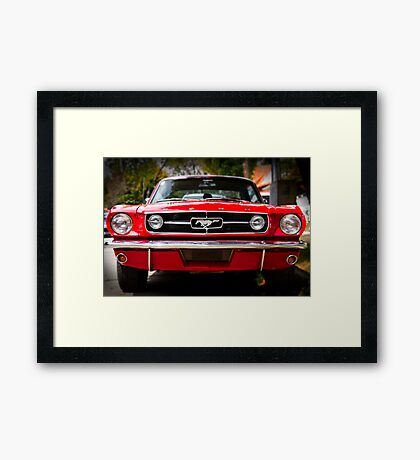 """Ford Mustang 65 """"The Red Pony"""" Framed Print"""
