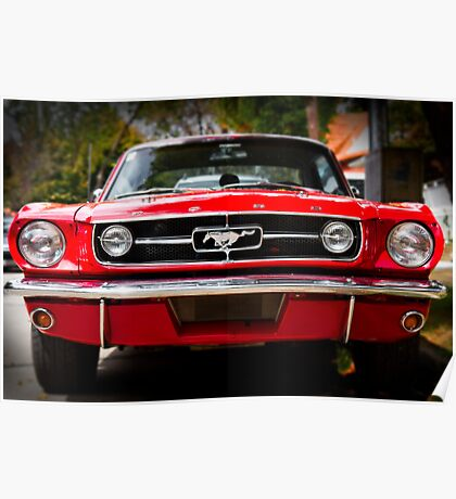 "Ford Mustang 65 ""The Red Pony"" Poster"