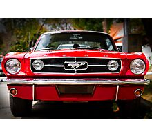 "Ford Mustang 65 ""The Red Pony"" Photographic Print"