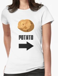 I'm With The Potato Womens Fitted T-Shirt