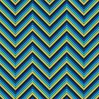 Chevron (Blues) iPhone Case by papertopixels