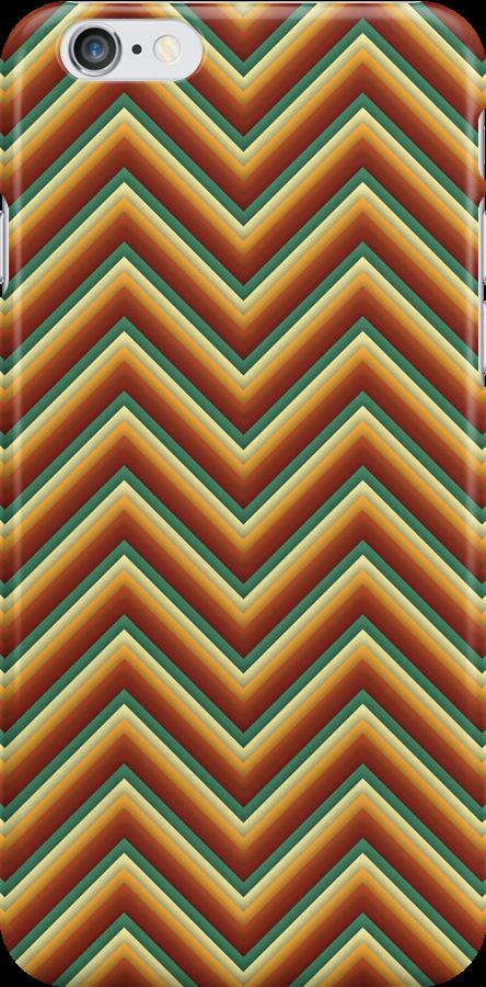 Chevron (Toffe Apple) iPhone Case by papertopixels