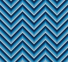 Chevron (Blues again) iPhone Case by papertopixels