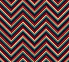 Chevron (Red/Grey) iPhone Case by papertopixels
