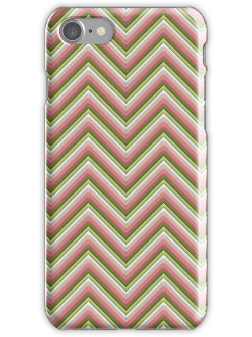 Chevron (Watermelon) iPhone Case by papertopixels