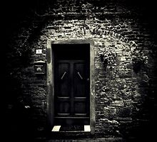 What lies behind the door? by Karen Lewis